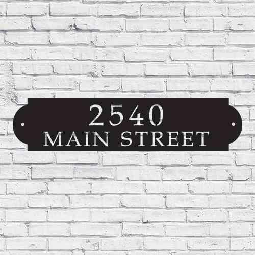 House Address Horizontal Metal Sign