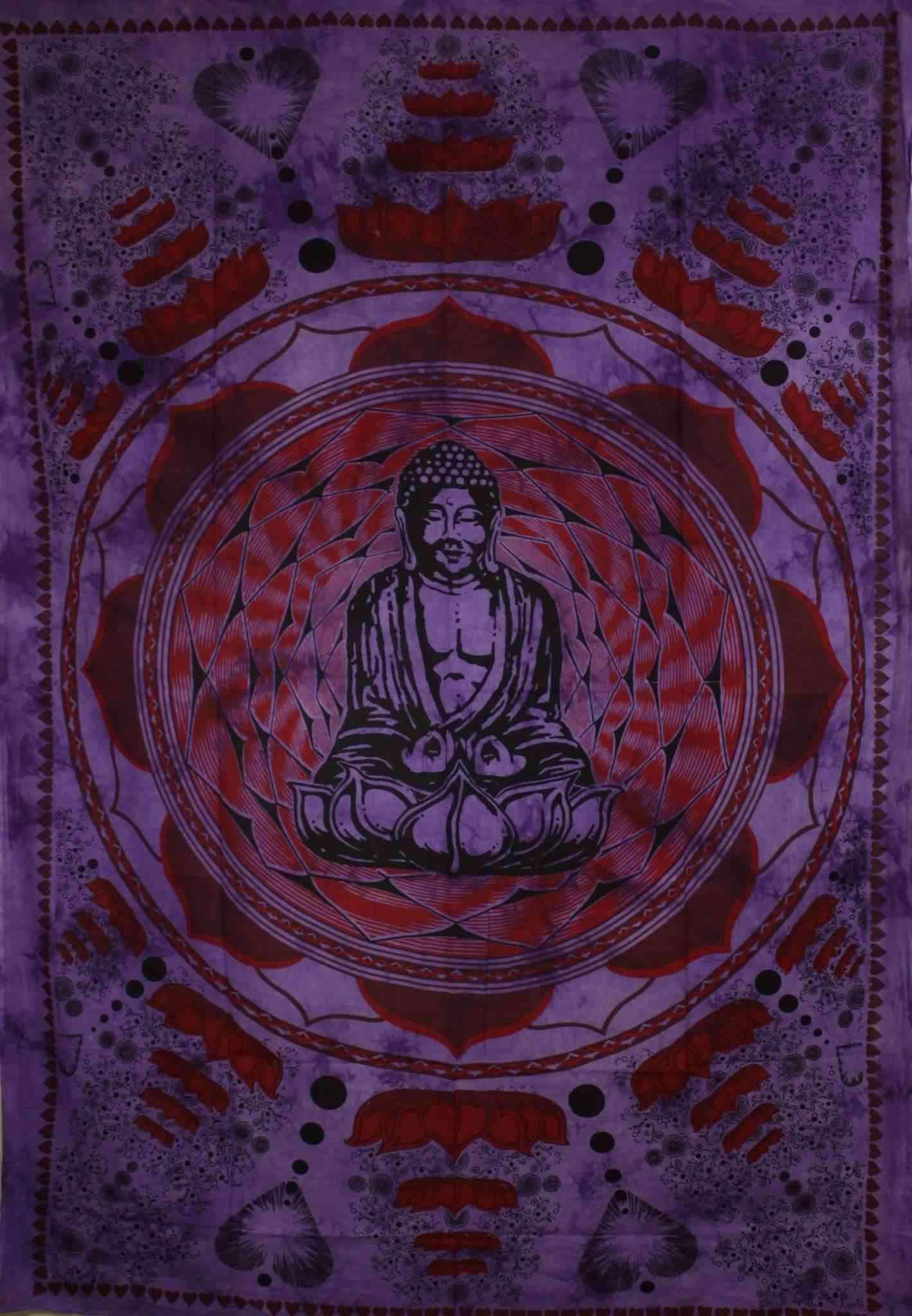 Buddha In Dharma Chakra Mudra-tapestry