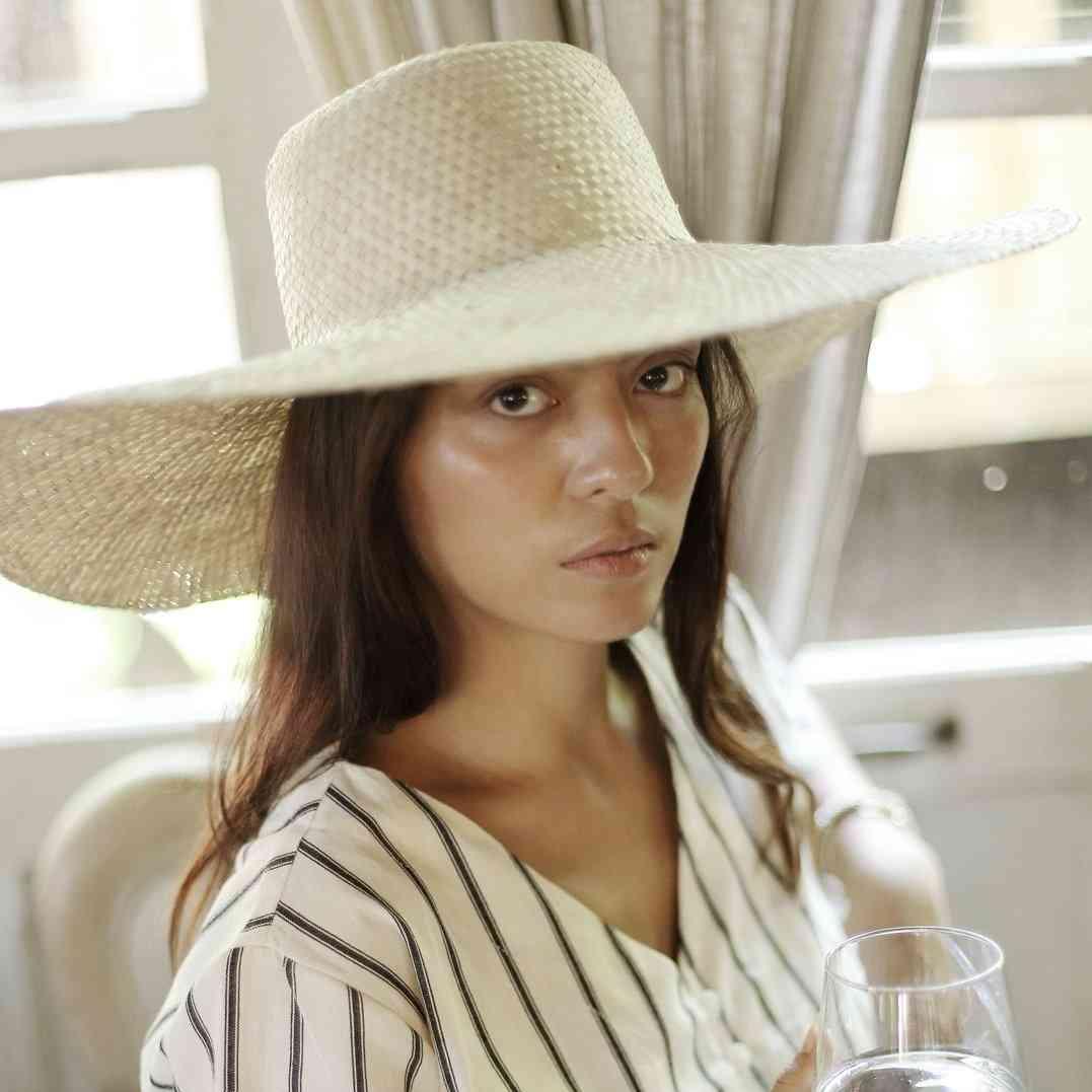 Handmade Wide Round Palm Straw Hat