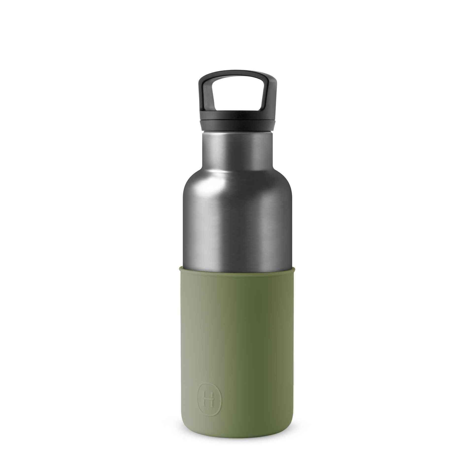 Titanium Grey Army Green 16 Oz Water Bottle