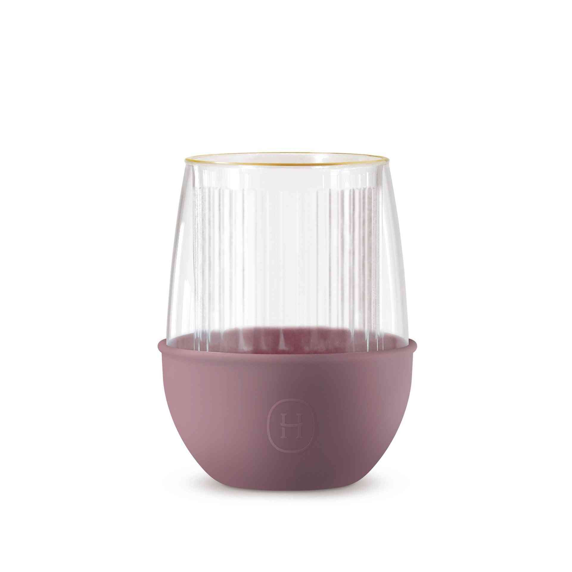 Stripes & Dusty Rose - Insulated Glass