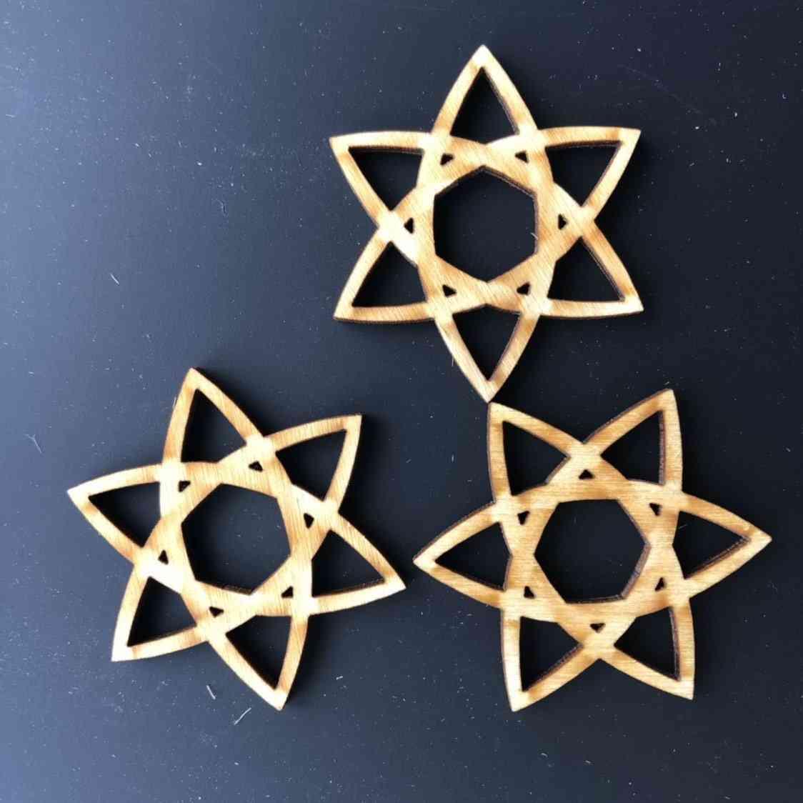 Celtic Star Wooden Beads