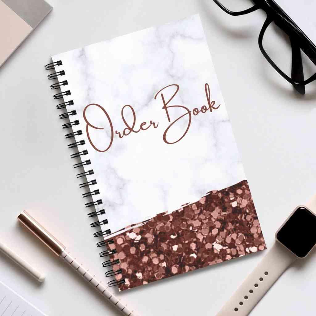 Order Book Glitter Cover