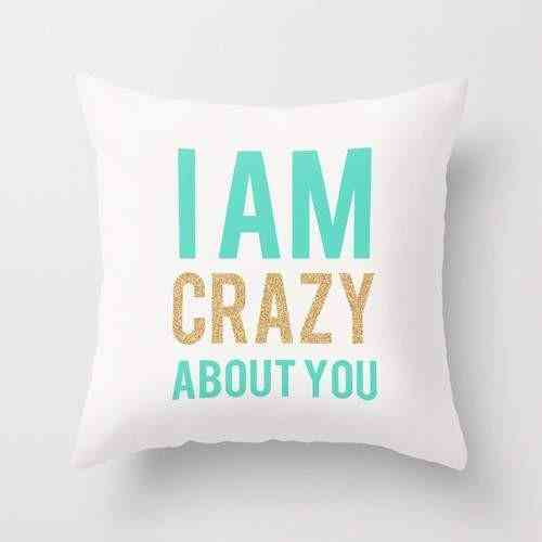 I Am Crazy About You Pillow