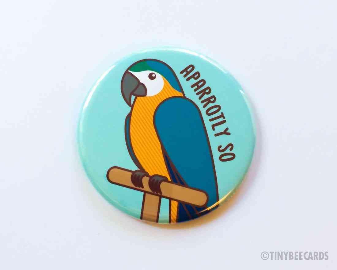 Aparrotly So-pun Button Magnet