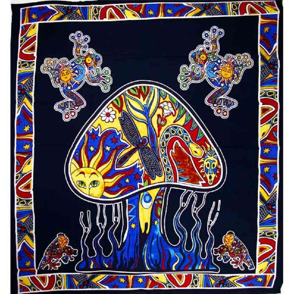 Mushroom Garden Tapestry
