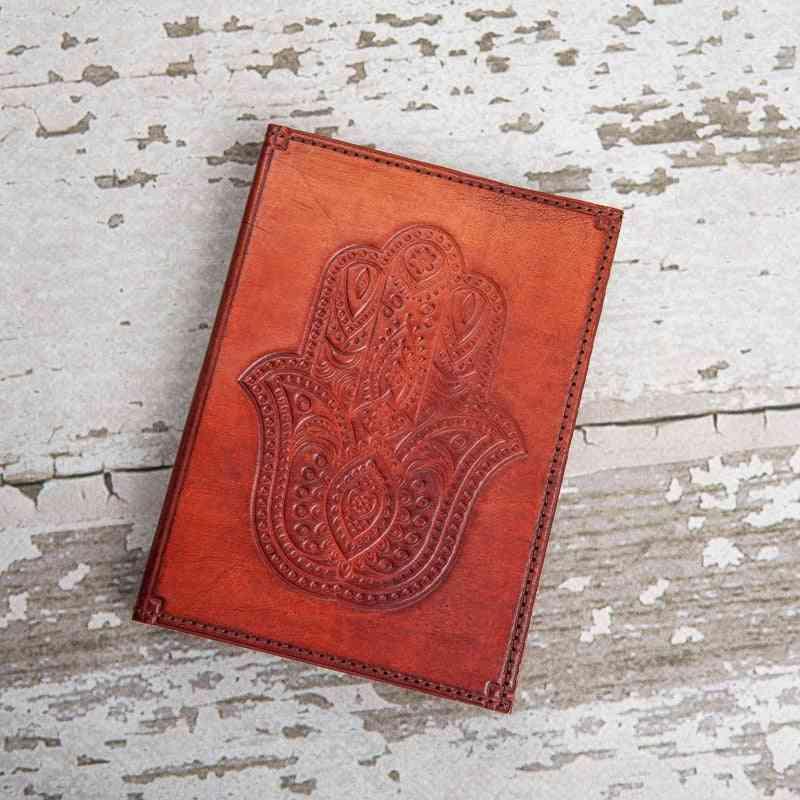 Hamsa Symbol Handmade Genuine Leather Journal
