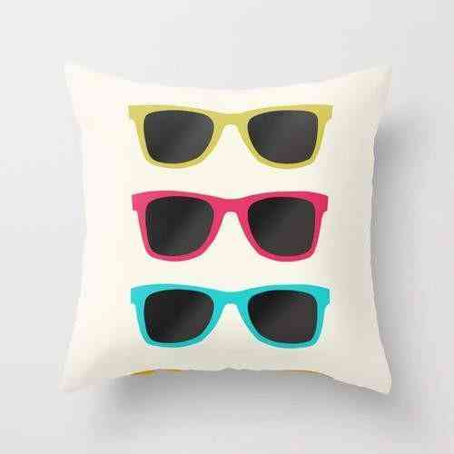 Sunglasses Print Pillow Cover