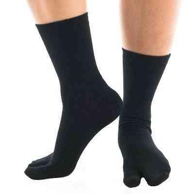 Flip Flop Tabi Socks - Black Solid-1 Pair