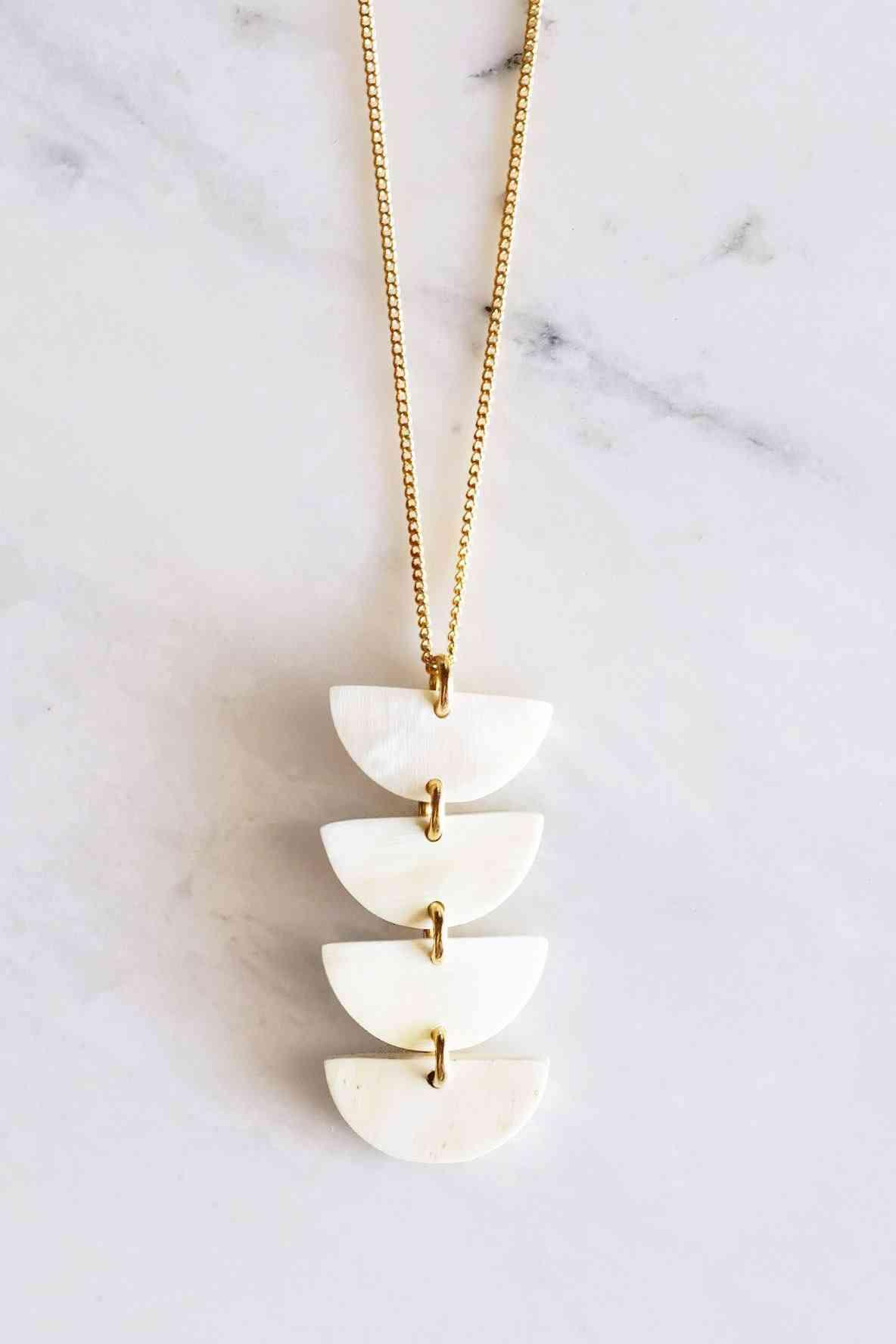 Buffalo Horn Pendant Necklace
