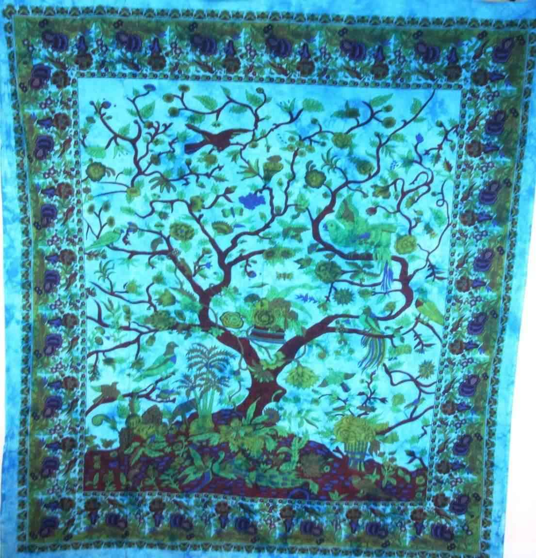 Tree Of Life Birds Tapestry
