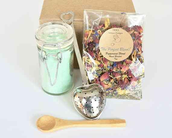 Mint Tea Set With Peppermint Floral Tea