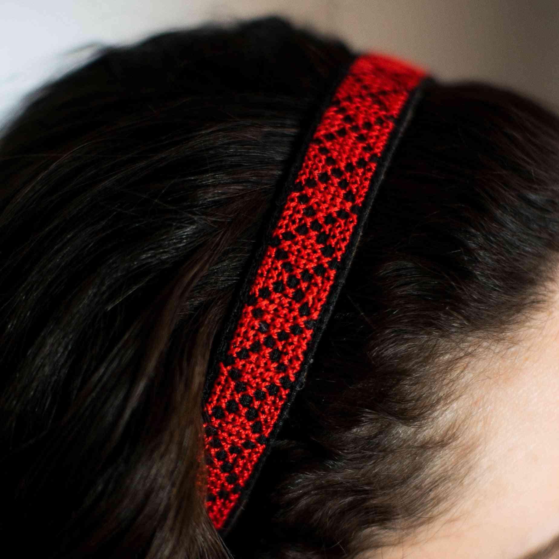 Tatreez Headband In Red