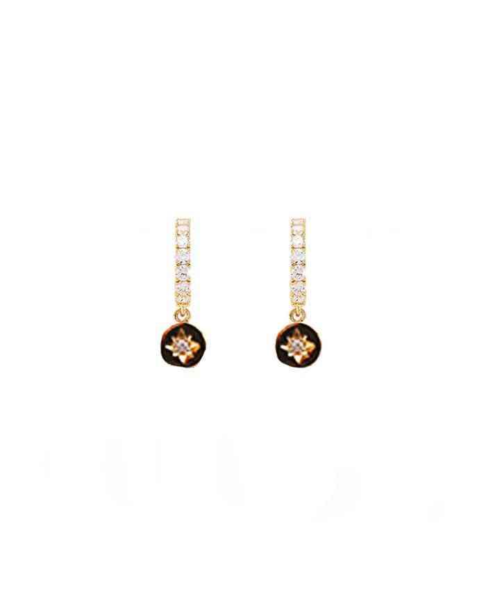 Little Treasure Stone Drop Huggie Earrings