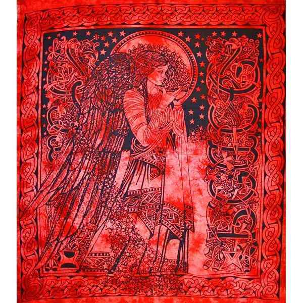 Angel Of Peace Tie Dye Tapestry