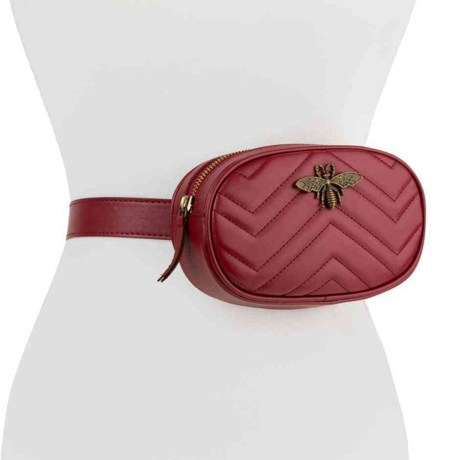 Oval Shaped Fannie Pack With Belt