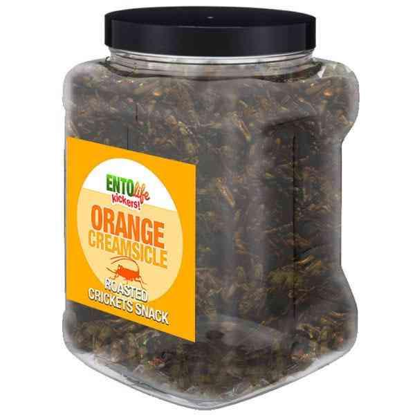 Orange Creamsicle Flavored Cricket Snack