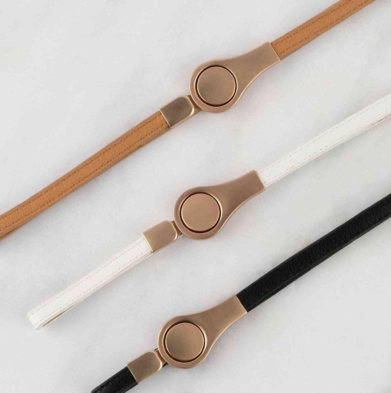 Matte Rose Clasp Adjustable Belt