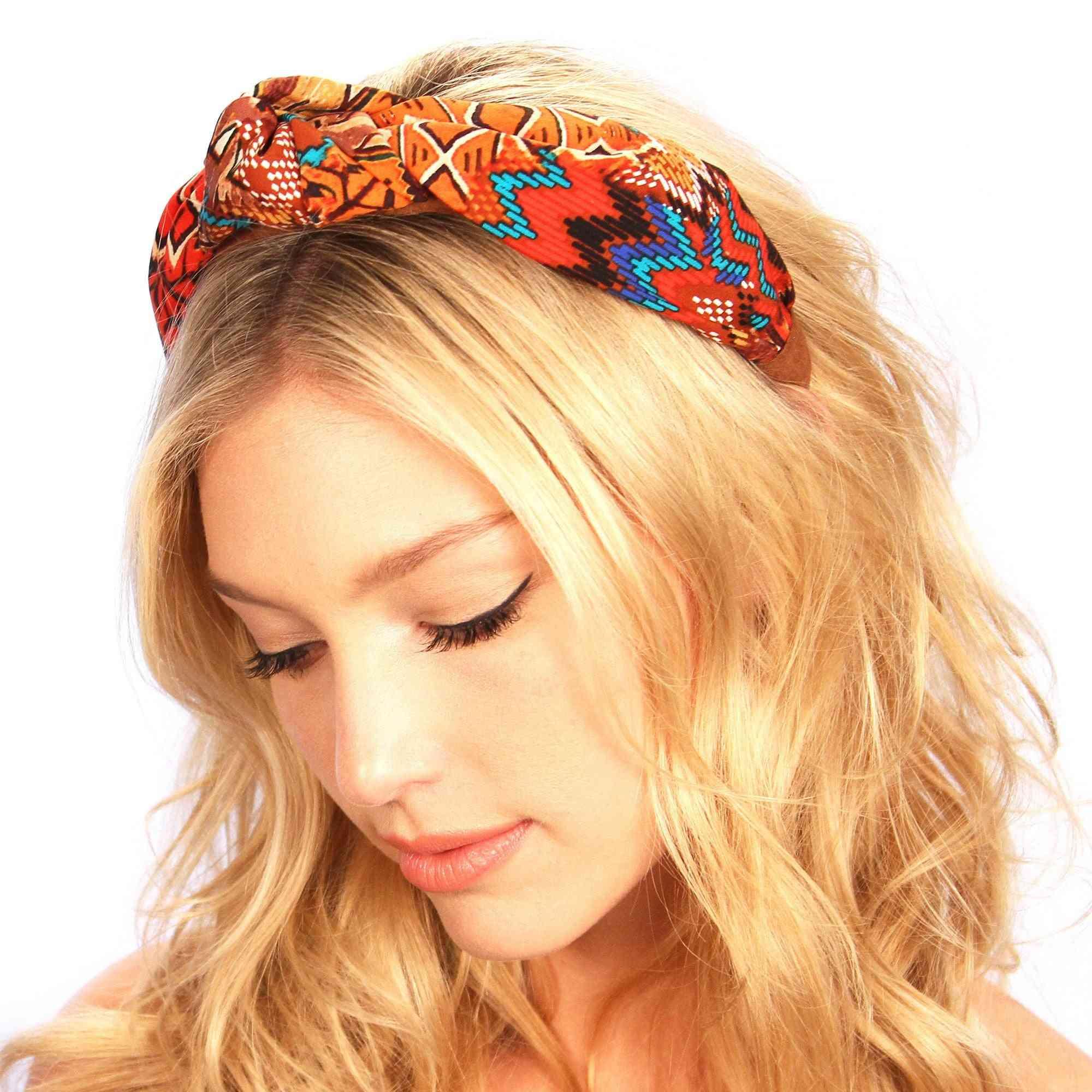 Aztec Suede Knot Headband