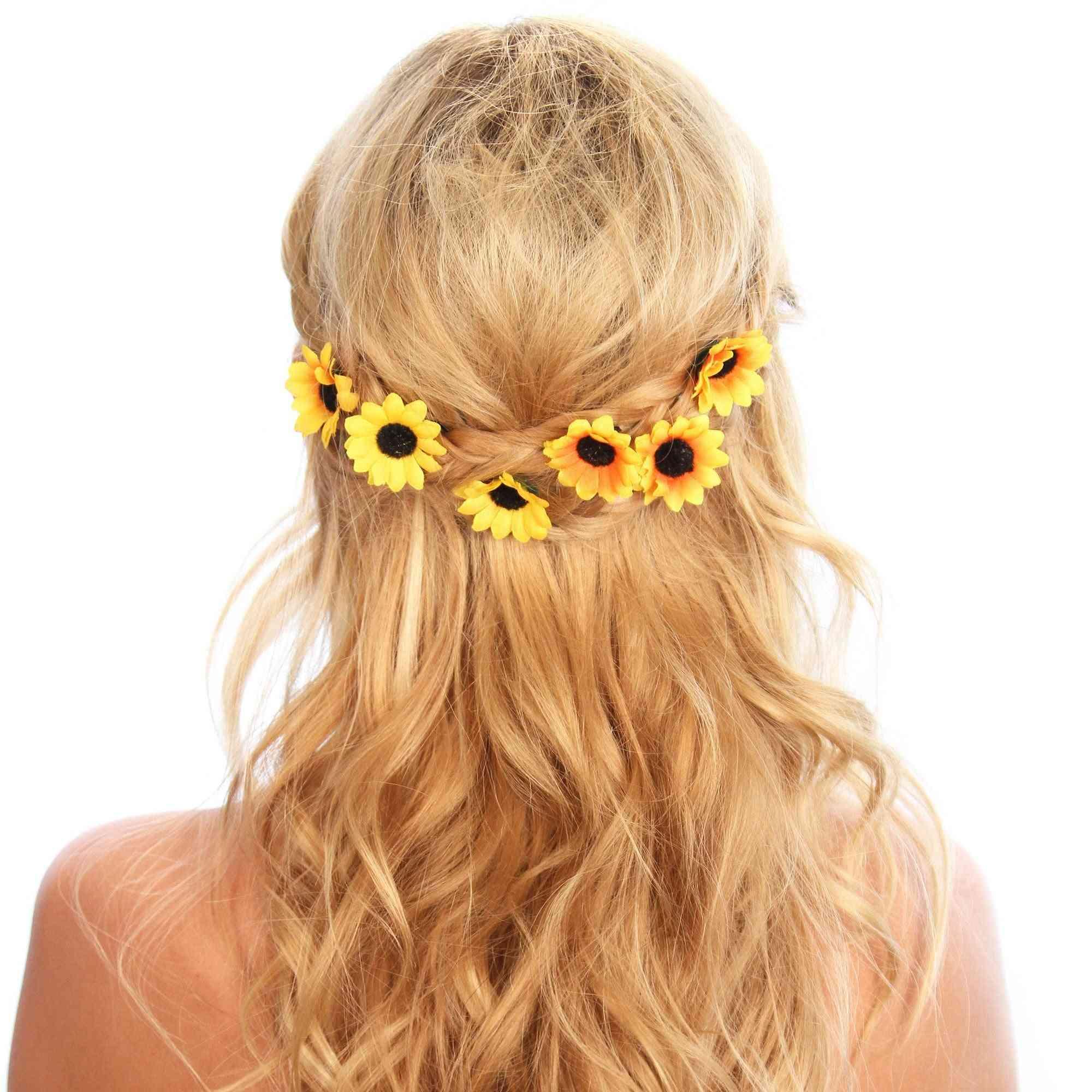 Sunflower Hair Grips