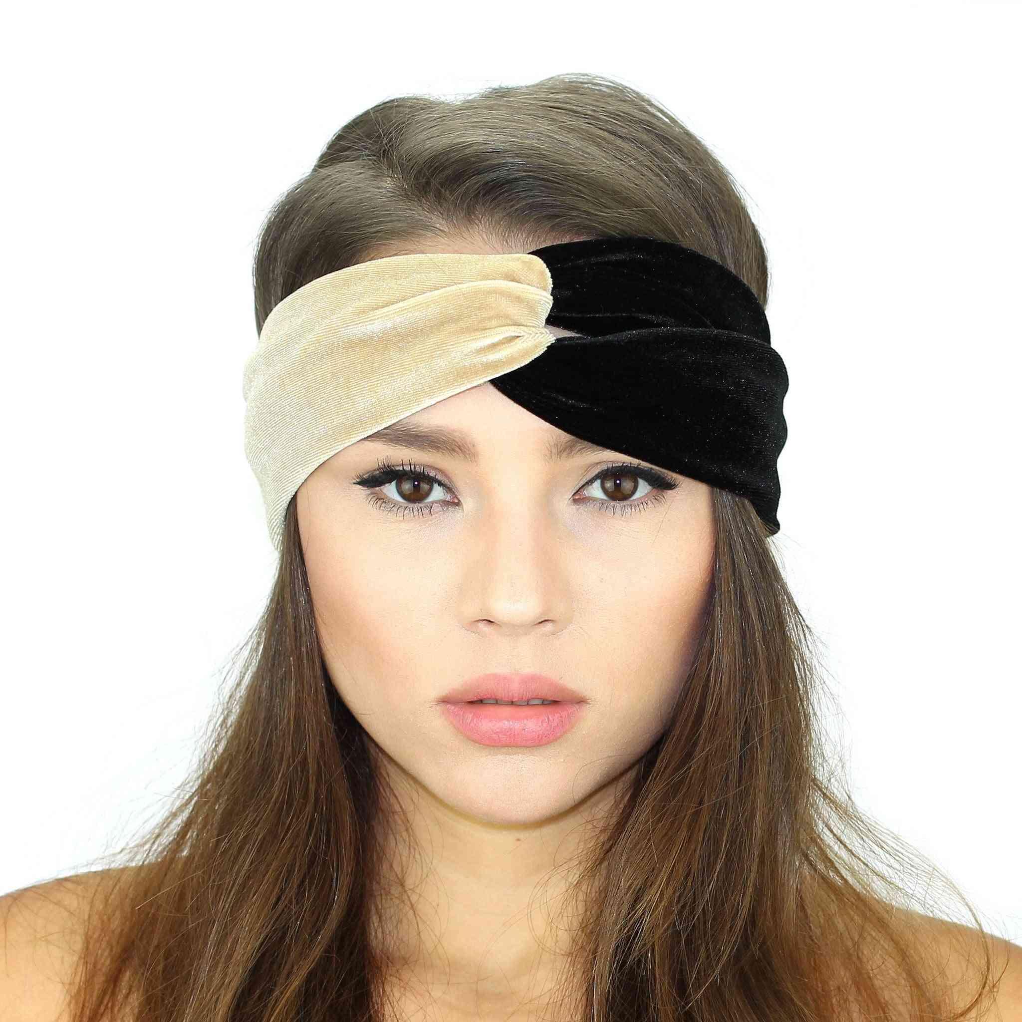 Velvet Color Block Headband
