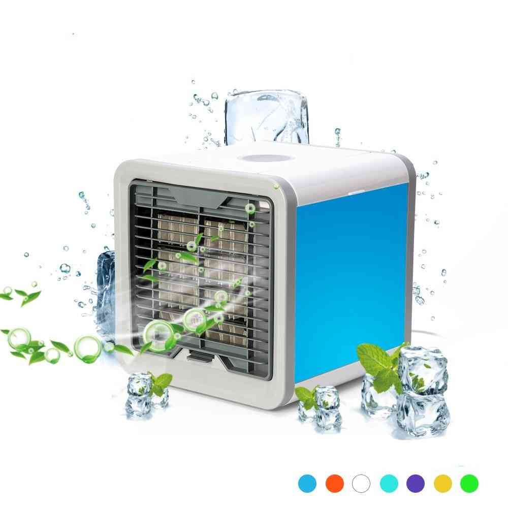 Portable Mini Humidifying Air Cooler With 7 Led Colors Theme