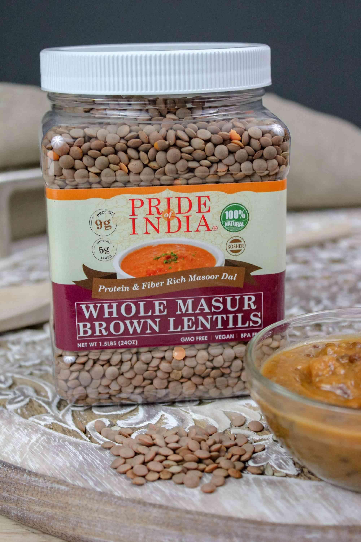 Protein & Fiber Rich Whole Masoor Brown Lentils