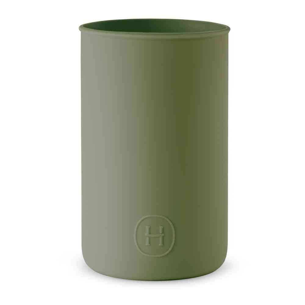 Green Silicone Sleeve Water Tumbler