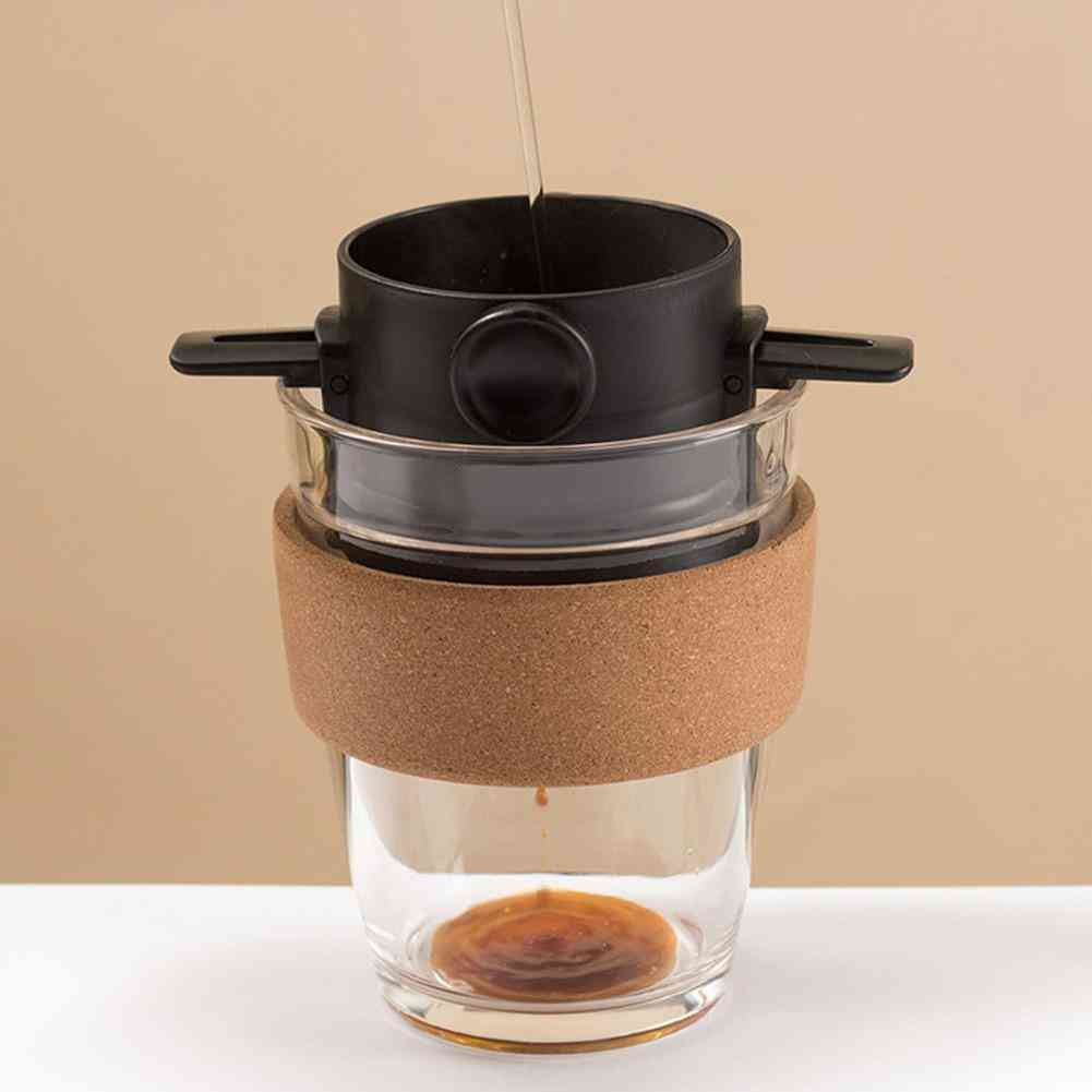 Foldable Reusable Coffee Filter Coffee Maker Mesh Holder