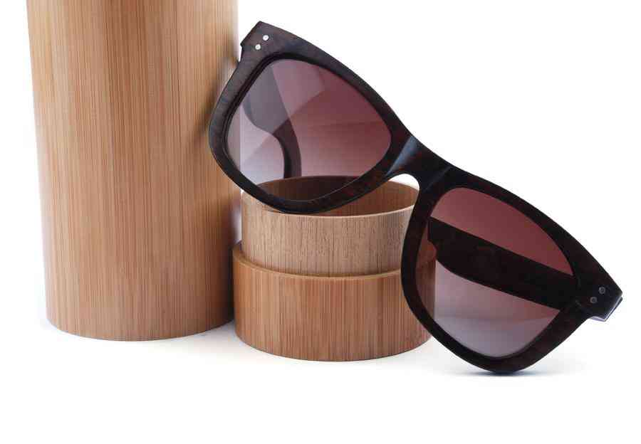 Natural Bamboo Cylinder For Sunglasses