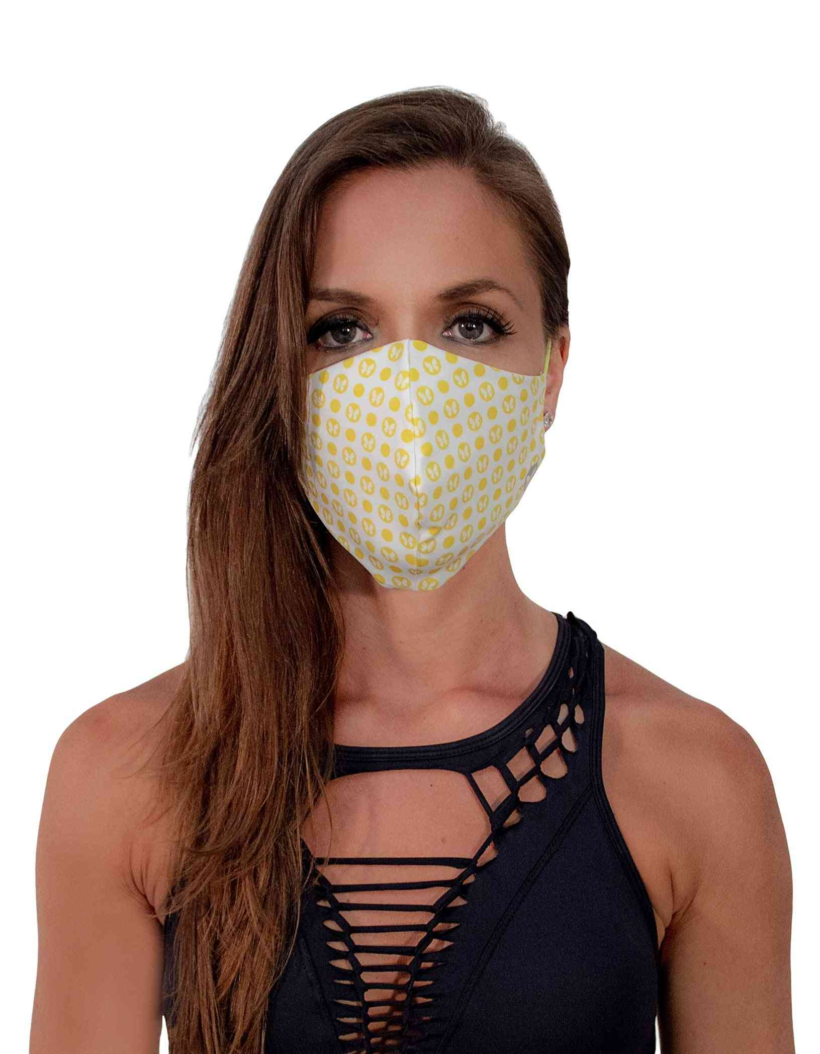 Dotted Print Face Mask