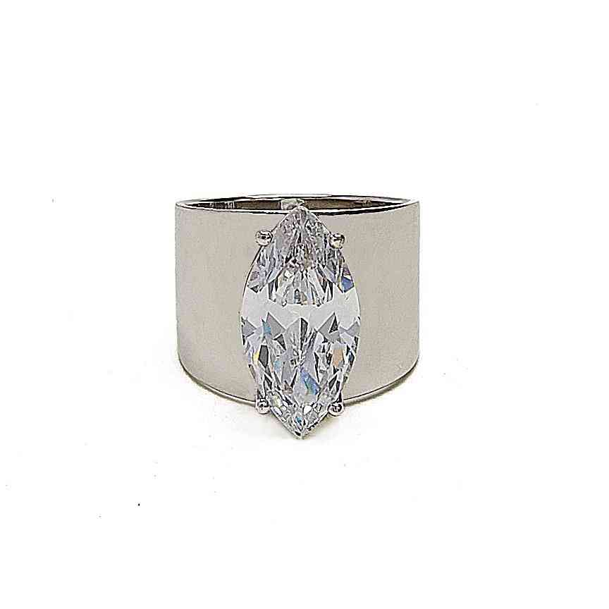 Cigar Band Cz Ring By Kristin Perry