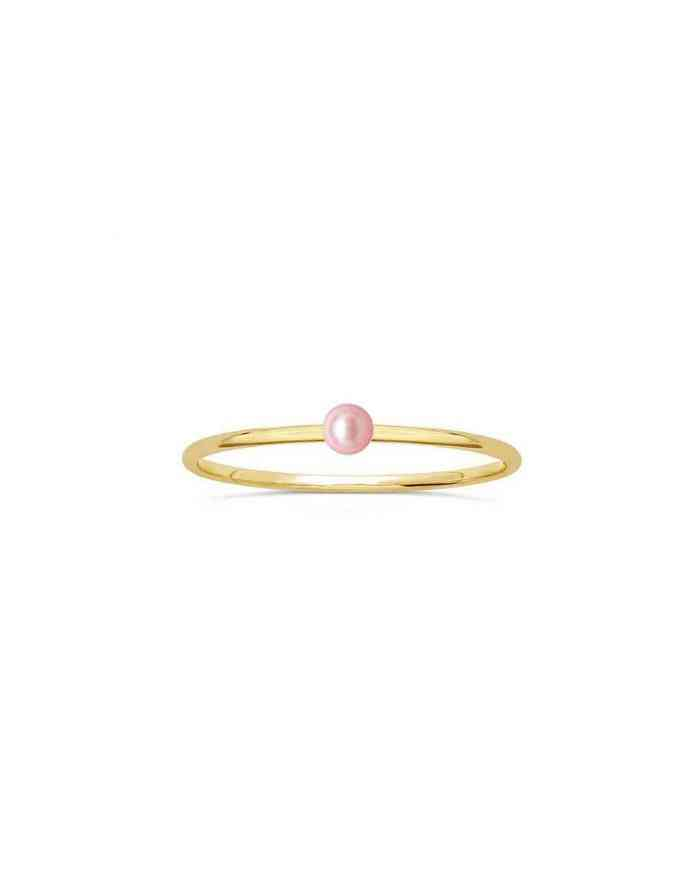 Solitary Pearl Gold Ring