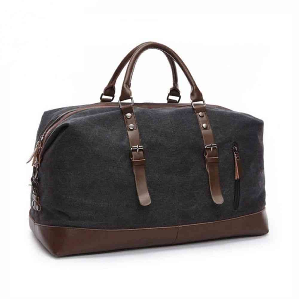 Canvas And Leather Accents Bag