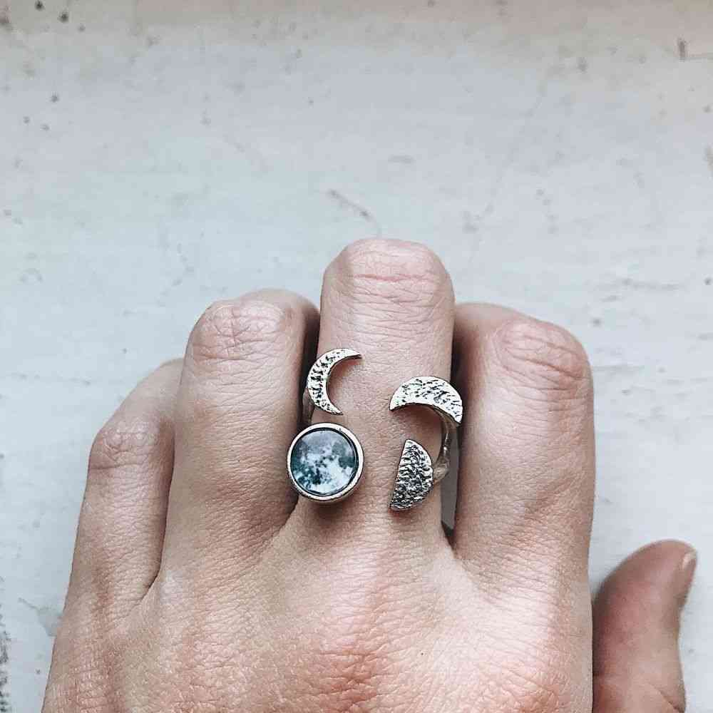 Moon Phase Sculpture Ring