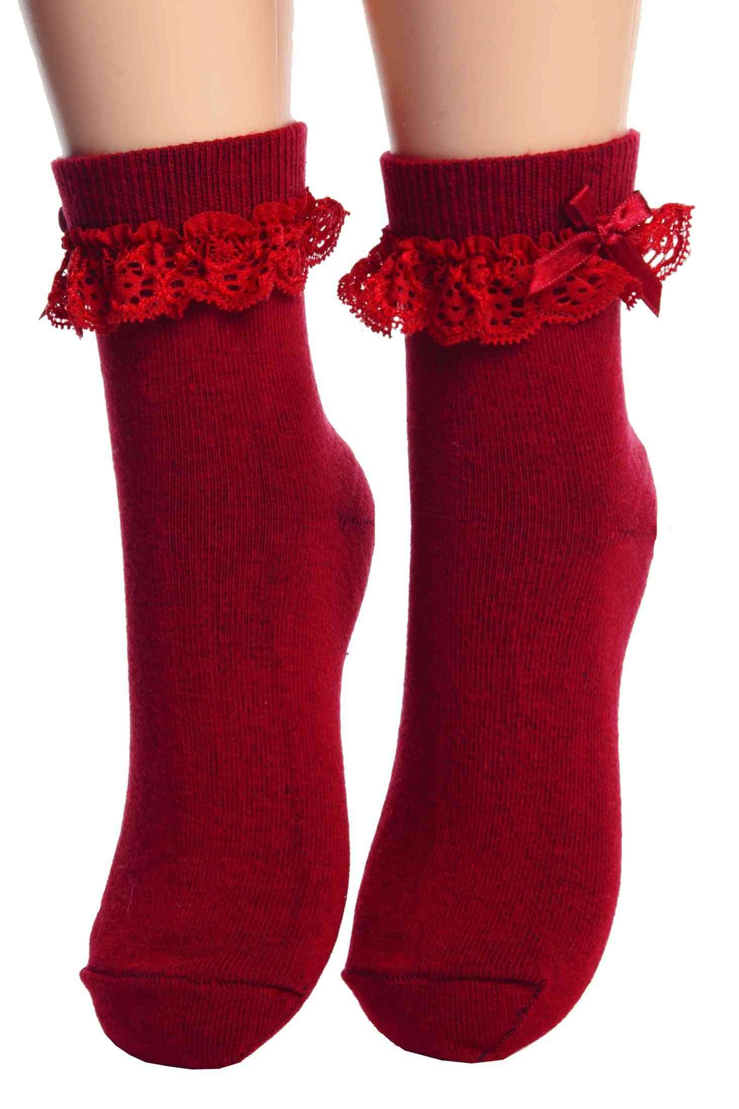Socks With Lace For Children