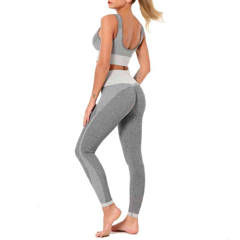 Yoga Sports Bra And Leggings Set