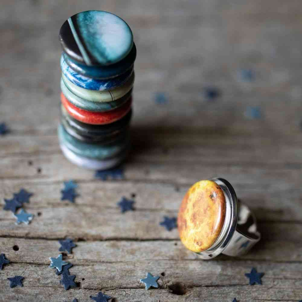 Interchangeable Solar System Ring