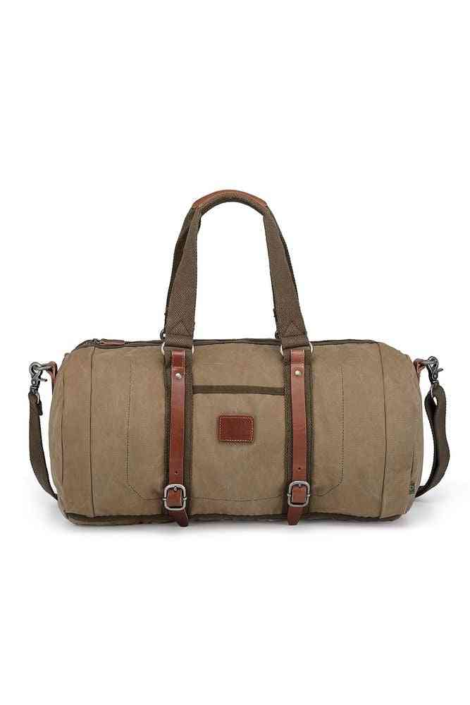 Military-inspired Forest Canvas Bag