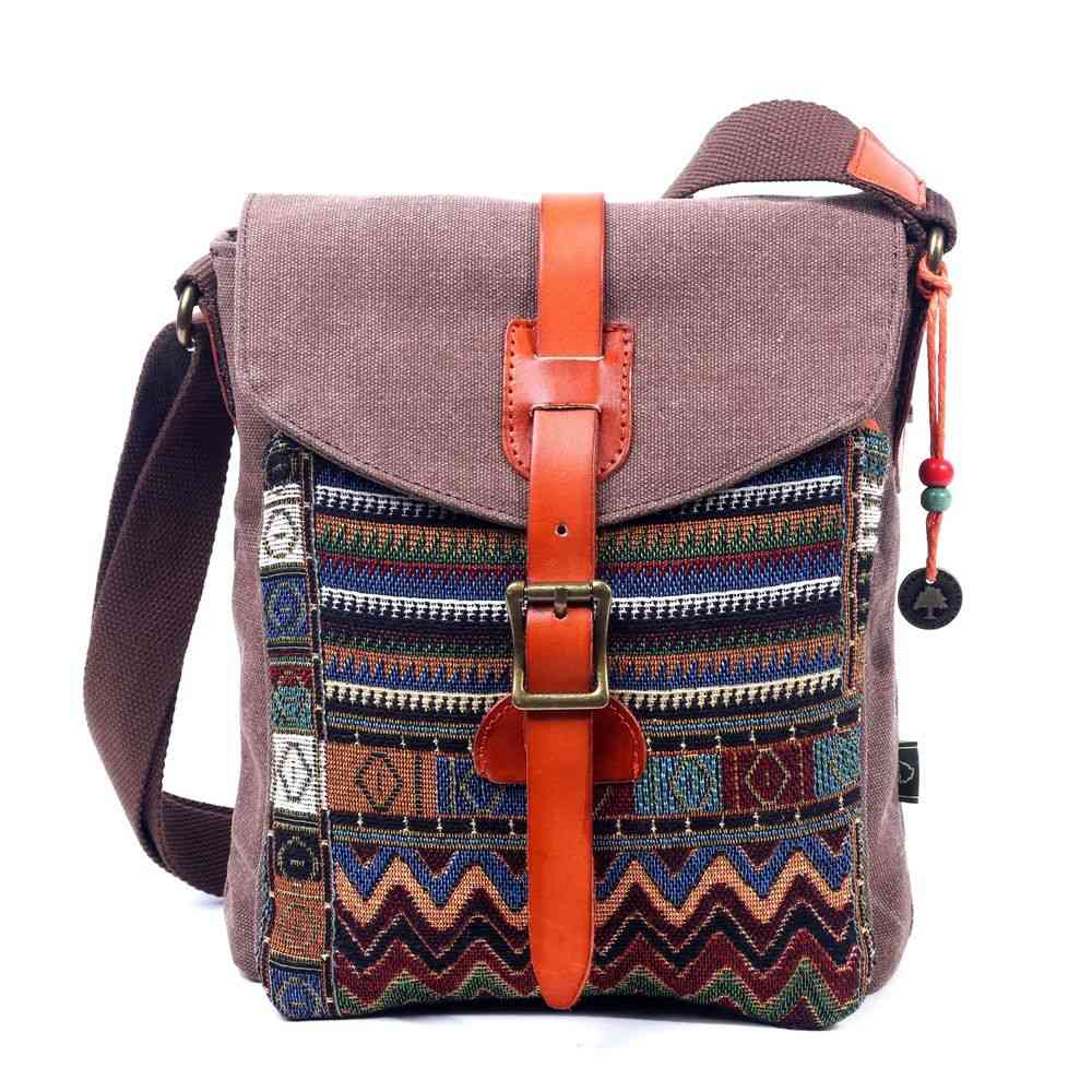 Playful Patterns And Cotton Canvas Crossbody Bag