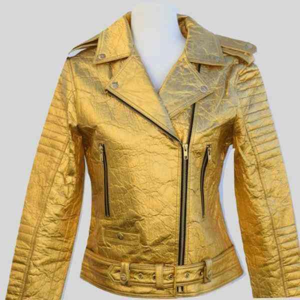 Biker Jacket Gold Ellie