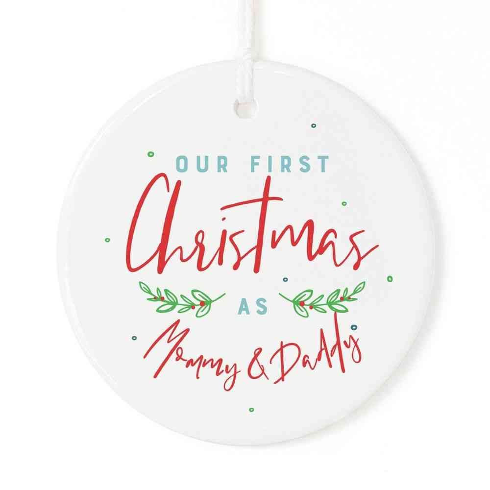 Mommy And Daddy-christmas Ornament