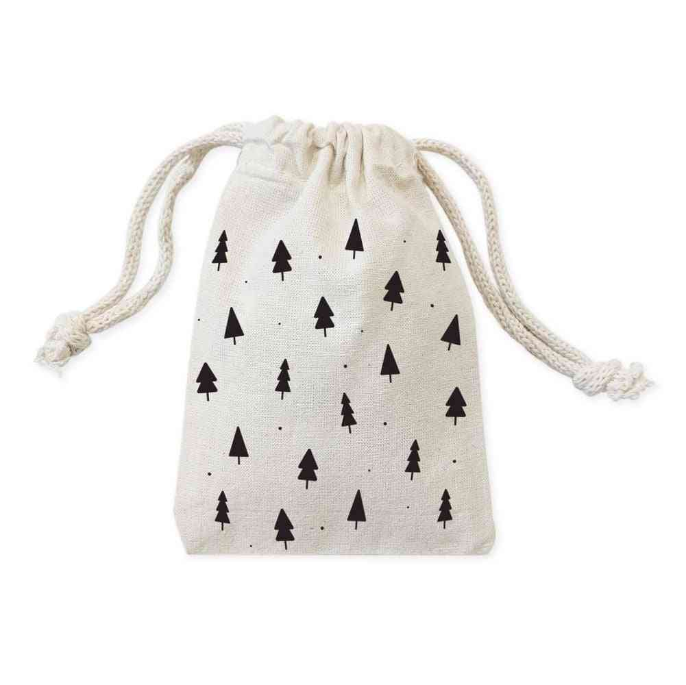 Cotton Canvas Holiday Favor Bags