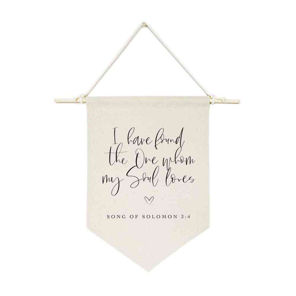 Cotton Canvas Bible Hanging Wall Banner