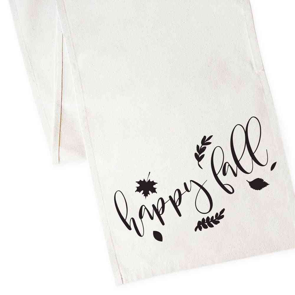 Happy Fall-canvas Table Runner