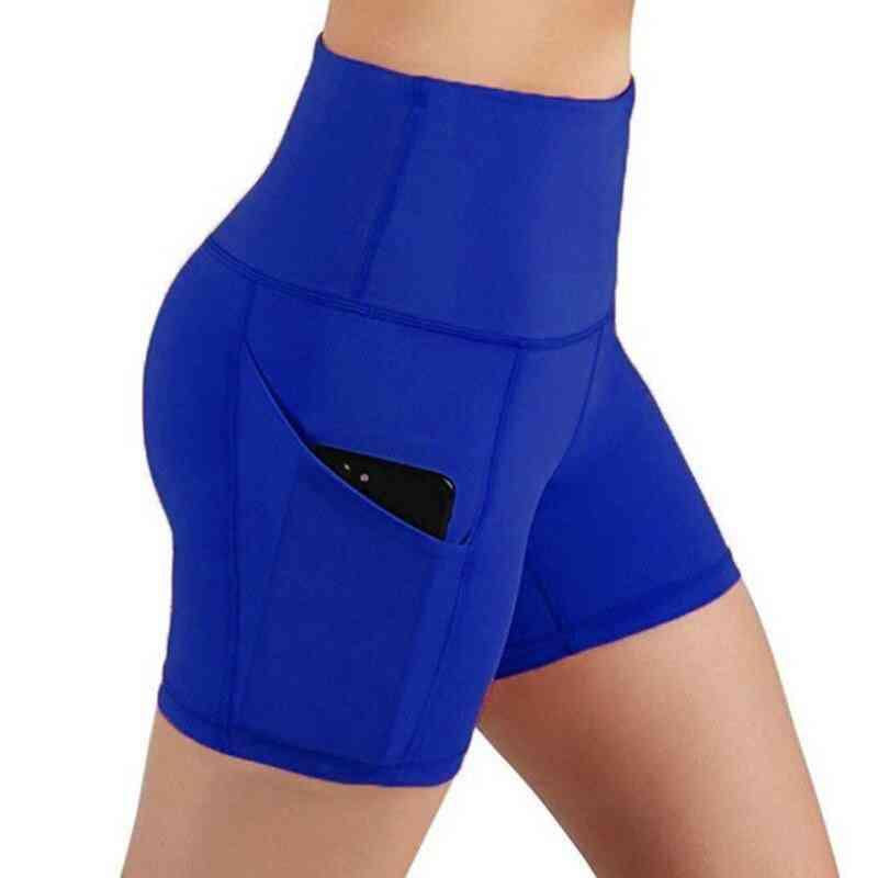 Women High Waist Sports Shorts Workout Running Fitness Gym Yoga