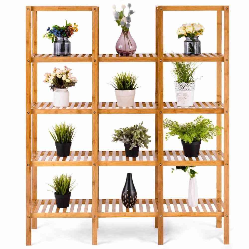 Multifunctional Bamboo Display Stand