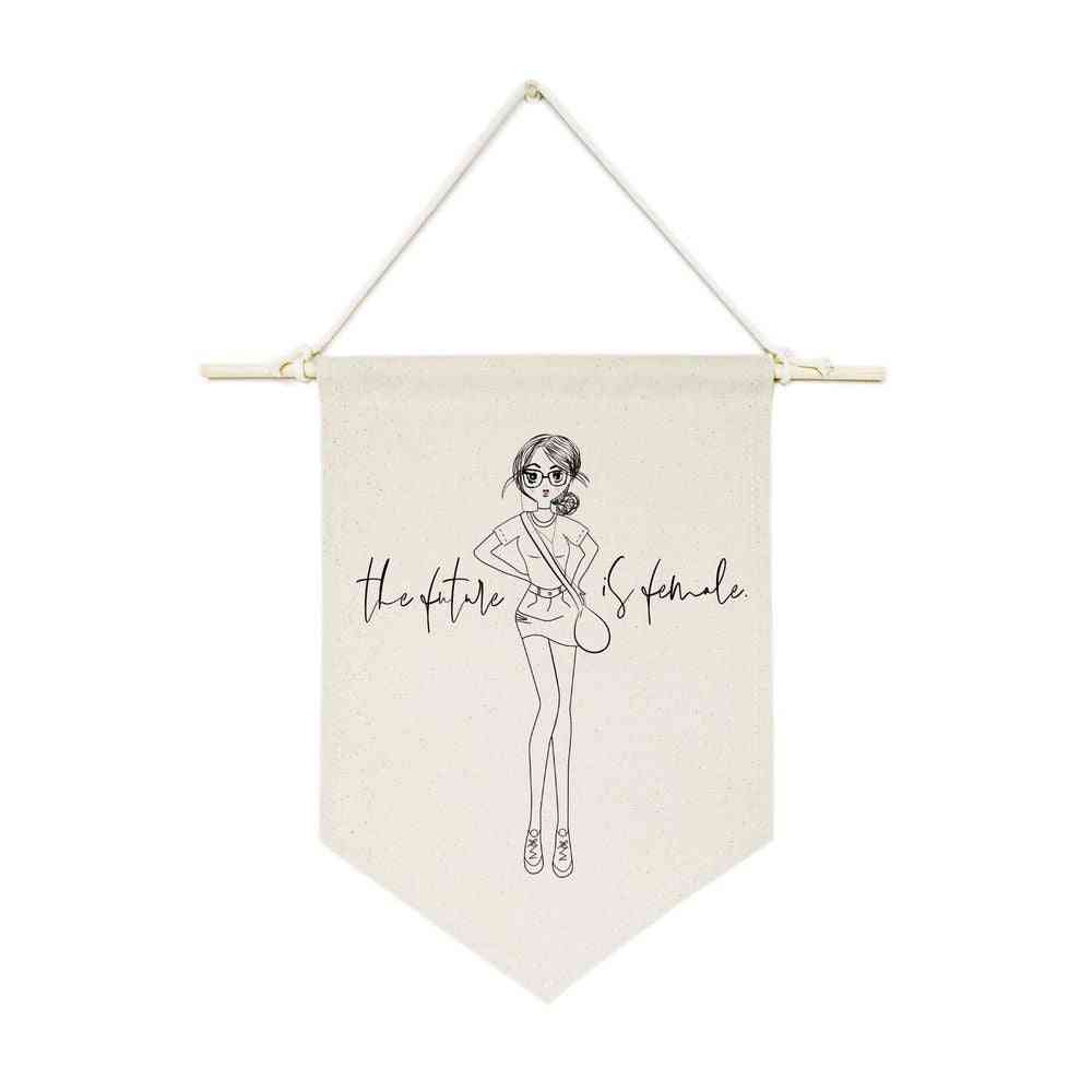 The Future Is Female-hanging Wall Banner