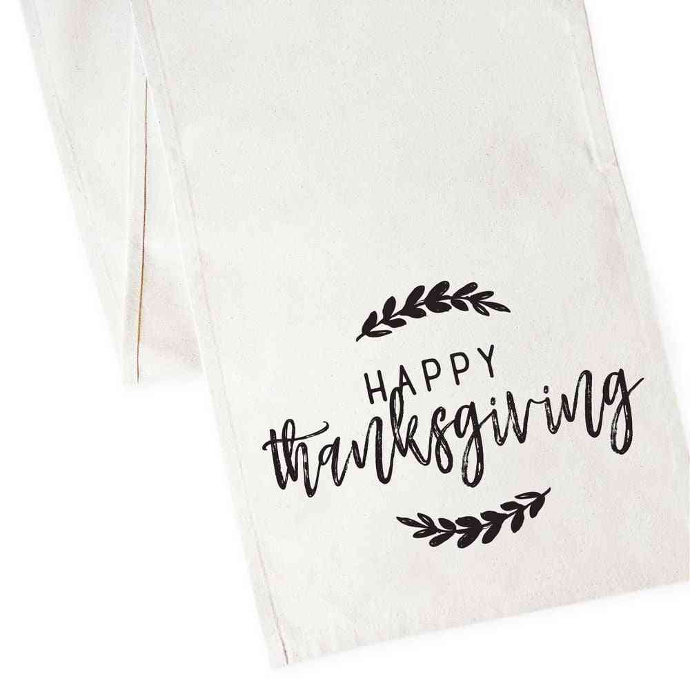 Happy Thanksgiving! - Canvas Table Runner