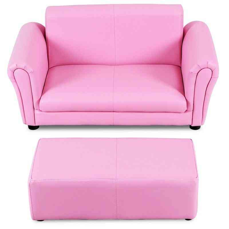Kids Double Sofa With Ottoman Light Weight For Handling Comfortable